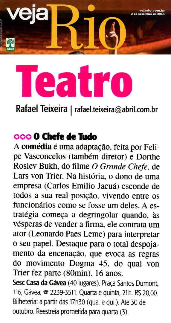 VEJA RIO | Teatro | 03.09.2014