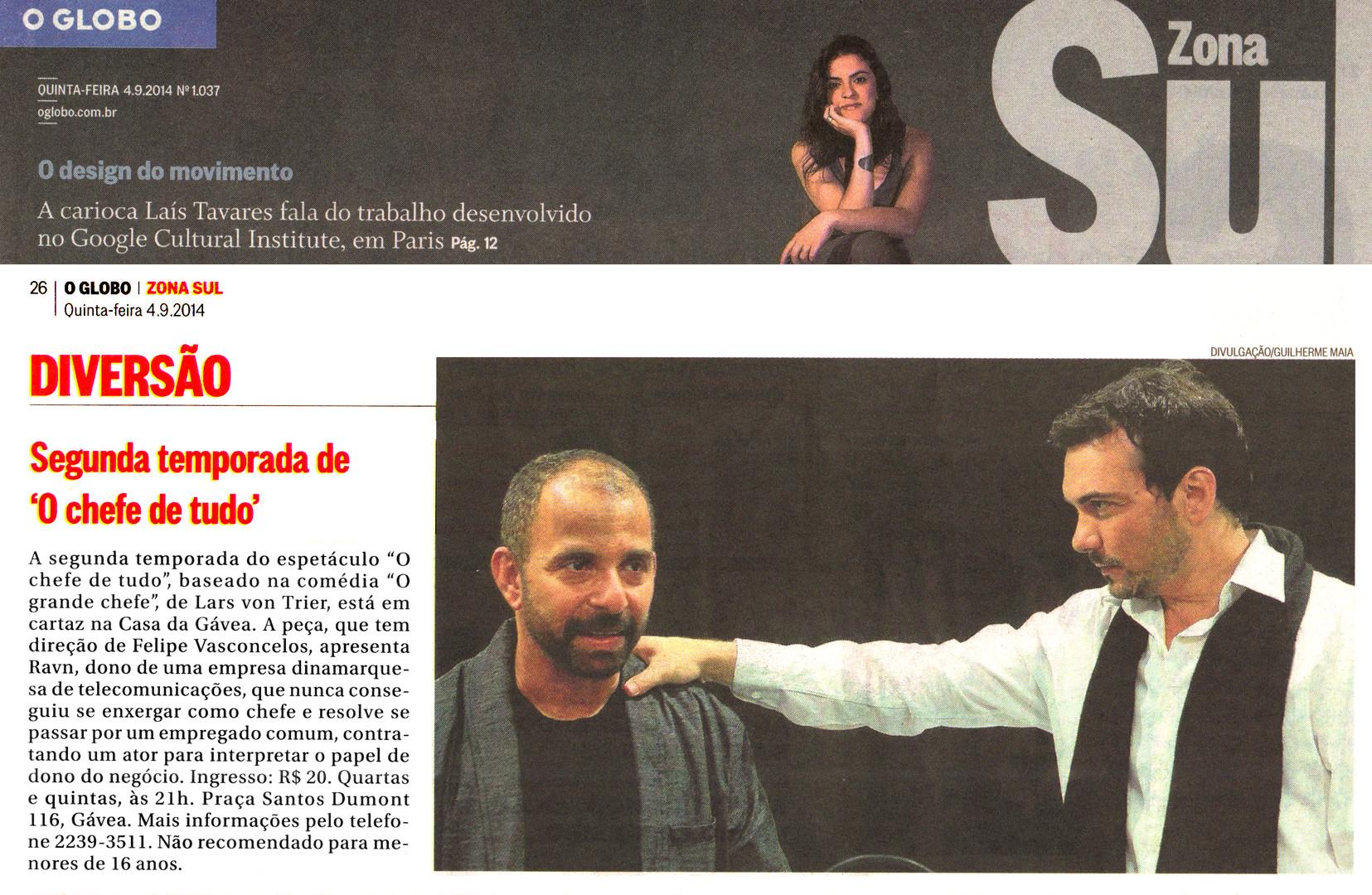 O GLOBO | Zona Sul | 04.09.2014