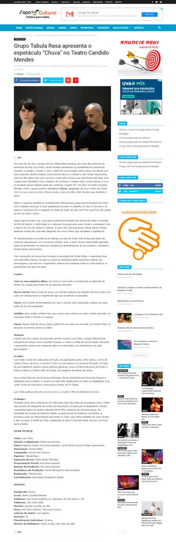 SOPA CULTURAL | 31/03/2016