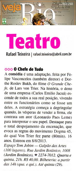 VEJA RIO | Teatro | 28.08.2013