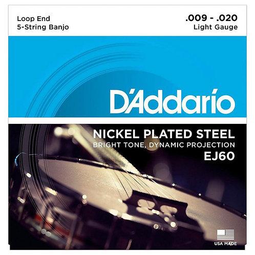 D'Addario 5 String Banjo Set EJ60