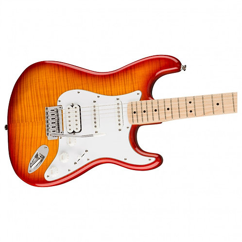 Squier Affinity Stratocaster, Flamed Maple Top, Sunburst