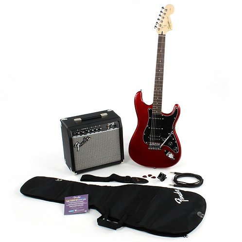 Squier Affinity Stratocaster 15G Package - Candy Apple Red