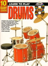 10 Easy Lessons Drums Book