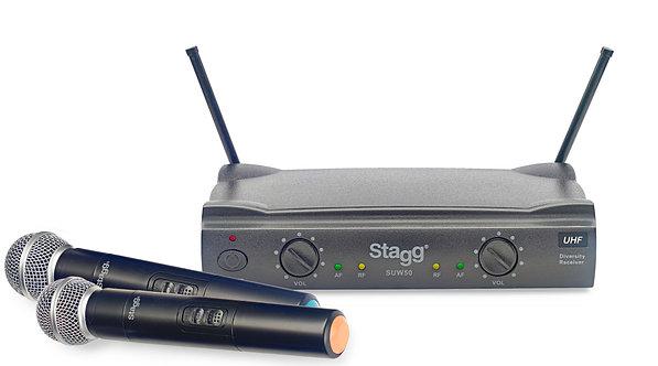 Stagg SUW-50 UHF Dual Wireless Microphone System