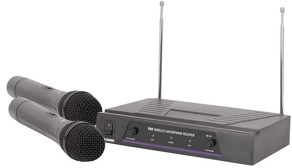 QTX VHF Dual Handheld Wireless System