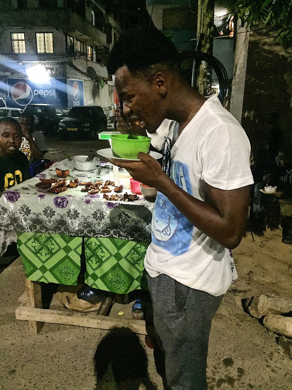 Eating pweza is unglamorous business