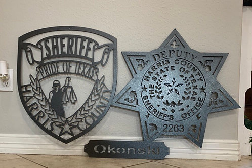 HCSO custom metal badge and patch designs