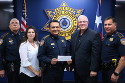 LAPD Air Support Donation Check