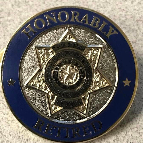 HCSO Honorably Retired Lapel Pin
