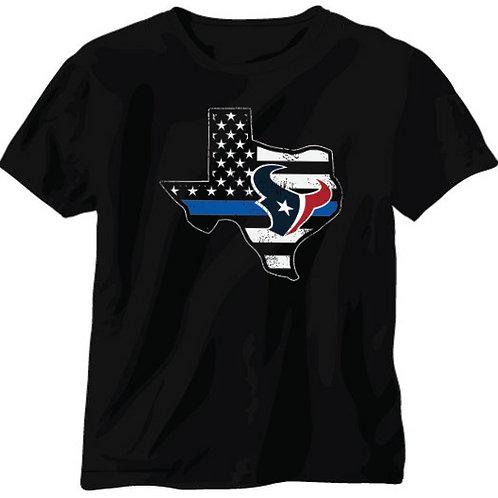 Texas Blue Line Texans Shirt