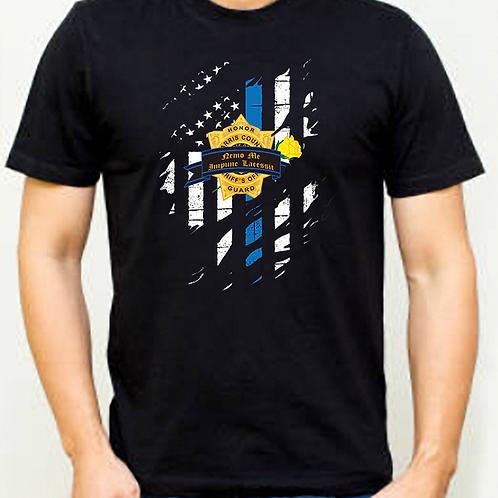 Black Blue Line Roll Call Shirt