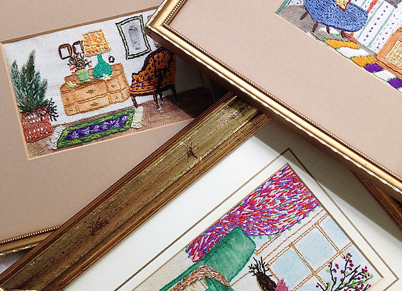 The Small Interior #1- Wall Decoration in Vintage Frame/Mount