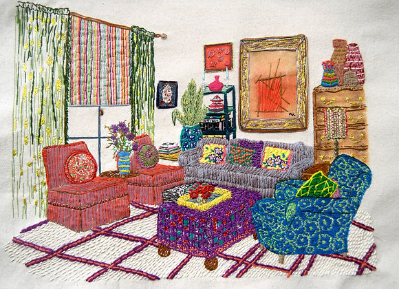 The Living Room - Mixed Media