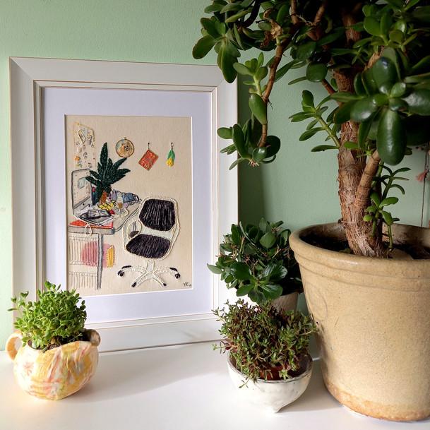 Jacqui's Desk/Embroidered Interiors