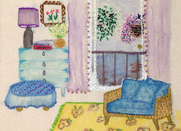 Room with a view - Wall Decoration - Embroidery - Mixed Media