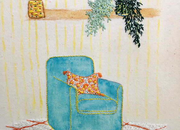 Turquoise Armchair - Wall Decoration