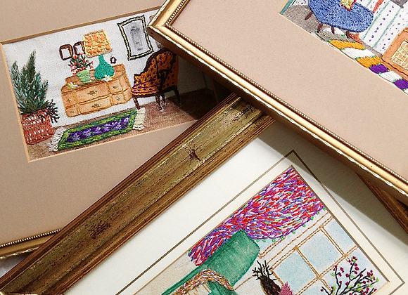 The Small Interior #2 - Wall Decoration in Vintage Frame/Mount