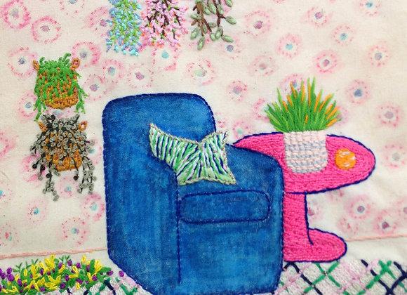 Blue Armchair - Wall Decoration
