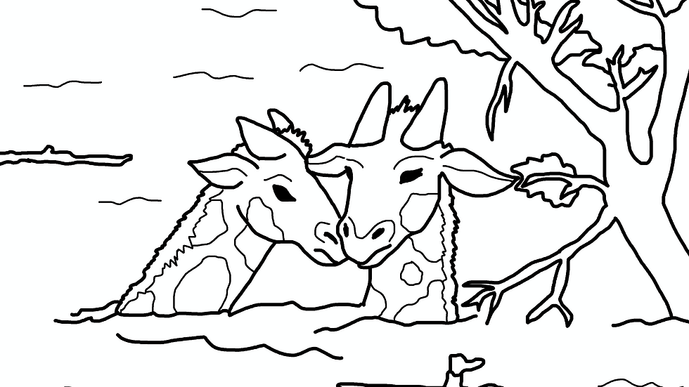 PDF Printout of Zoo Animals Coloring Pages