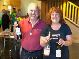 Jim from Baccarossa and Ruthe from Ruthe Robert's Wine Collective
