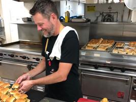 Chef Jeff enjoying the huge kitchen!