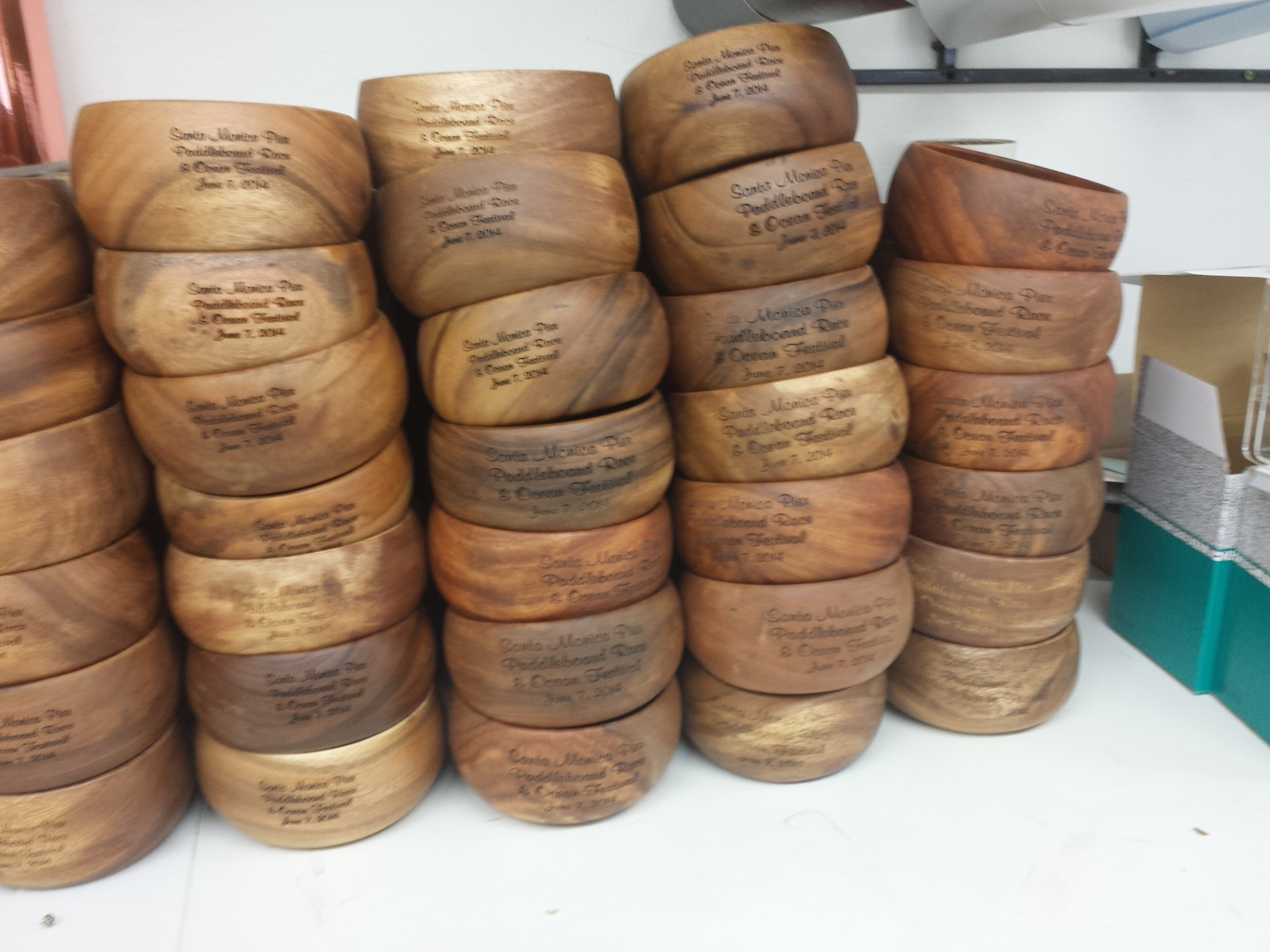 Wood bowls - engraved