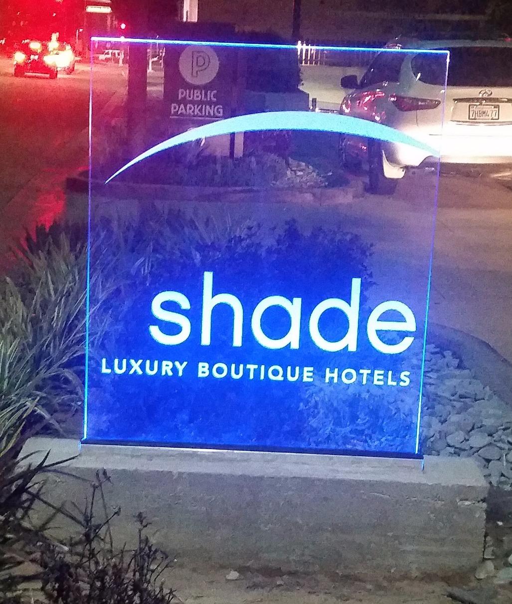 Sandblasted Starphire Glass sign
