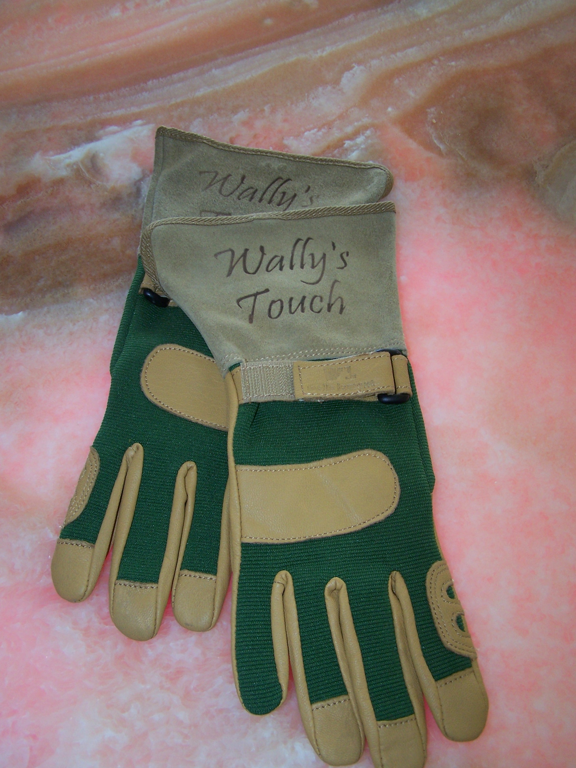 Etched into Leather Gloves