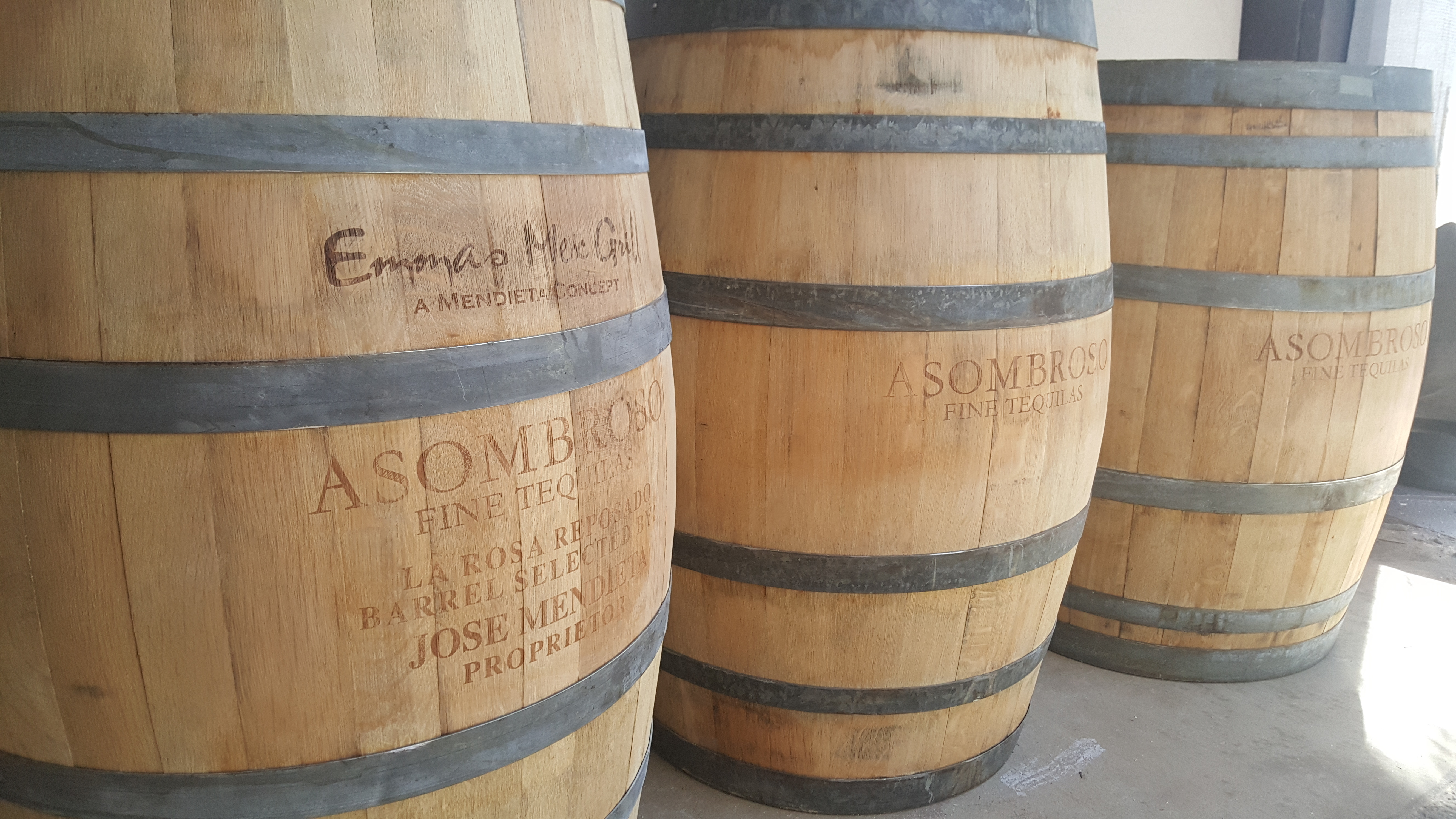 Asombroso Tequila Barrels Engraved