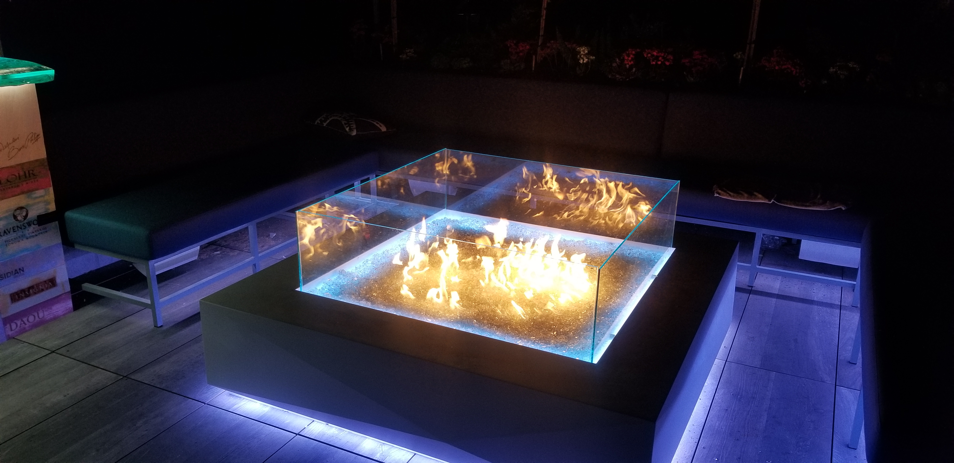 Glass Fire Wall - LED Lighting
