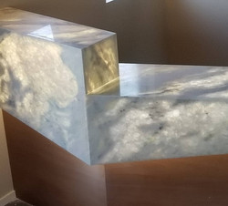 Lighted counter top