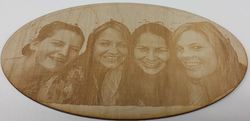 Laser etched photo to wood