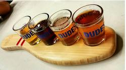 Dudes Beer Tasting tray