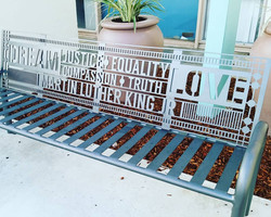 Martin Luther King Bench - Designed and