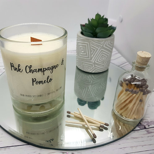 Pink Champagne and Pomelo Medium Candle
