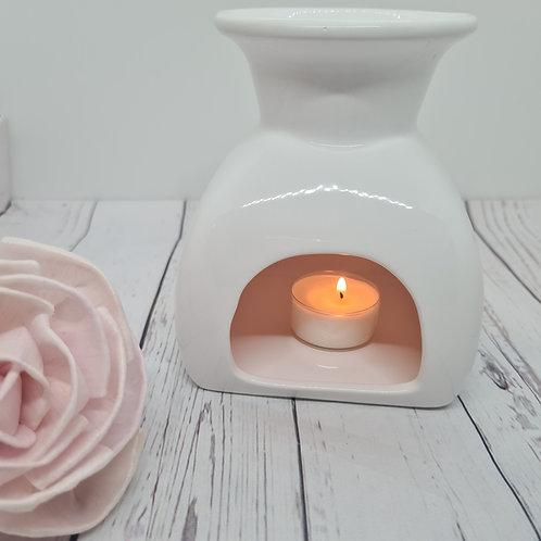 White Mia Ceramic Wax Burner