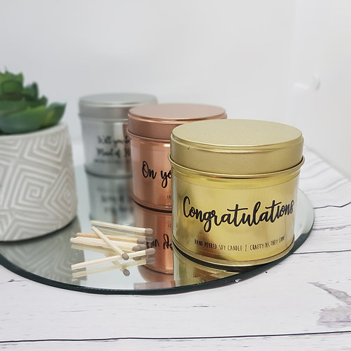 Congratulations Tin Candle