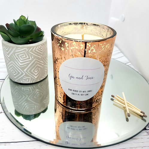 Gin and Tonic Luxury Rose Gold Candle