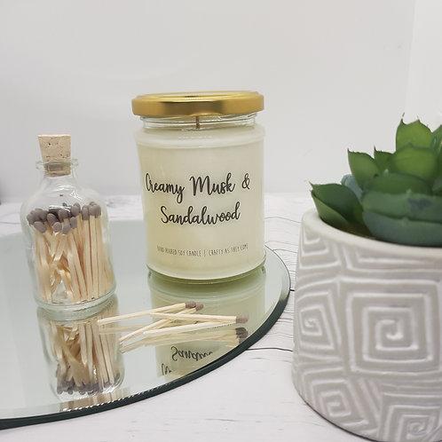Creamy Musk and Sandalwood Jar Candle