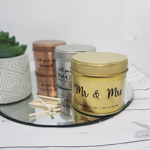 Mr & Mrs Tin Candle