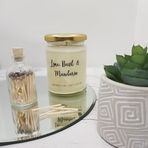 Lime, Basil and Mandarin Jar Candle