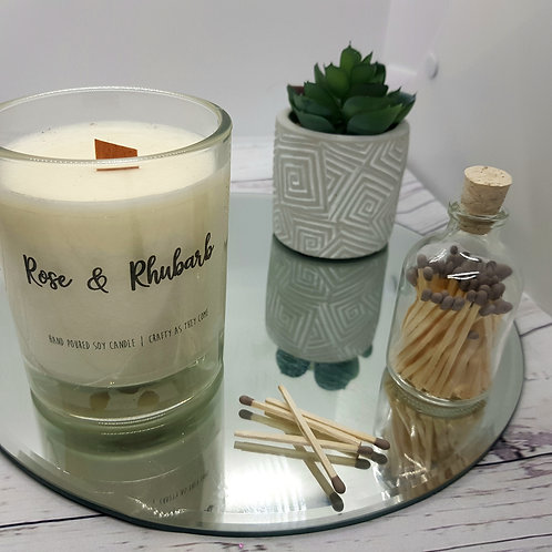 Rose and Rhubarb Medium Candle