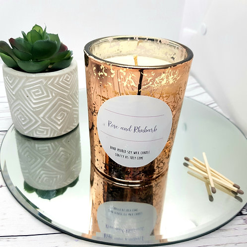 Rose and Rhubarb Luxury Rose Gold Candle
