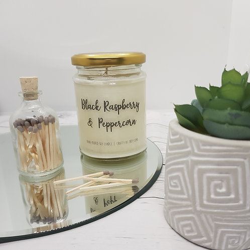 Black Raspberry and Peppercorn Jar Candle