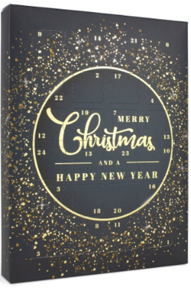 **PRE-ORDER** Christmas Advent Calendar | Navy and Gold