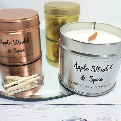 Rose Gold Tin Candle | Autumn and Christmas