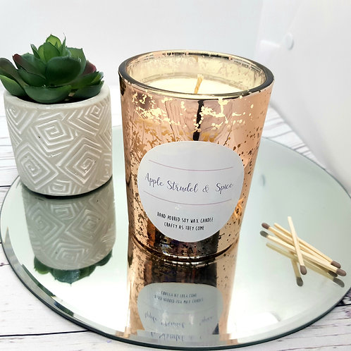 Apple Strudel and Spice Luxury Rose Gold Candle