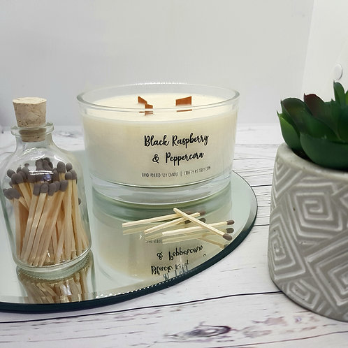 Black Raspberry and Peppercorn Large Candle