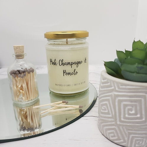 Pink Champagne and Pomelo Jar Candle